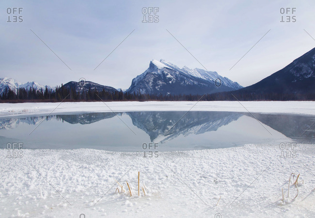 Vermilion Lake with Mount Rundle in Banff National Park, Canada
