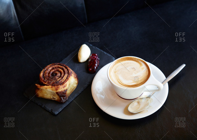 Cappuccino with pastry