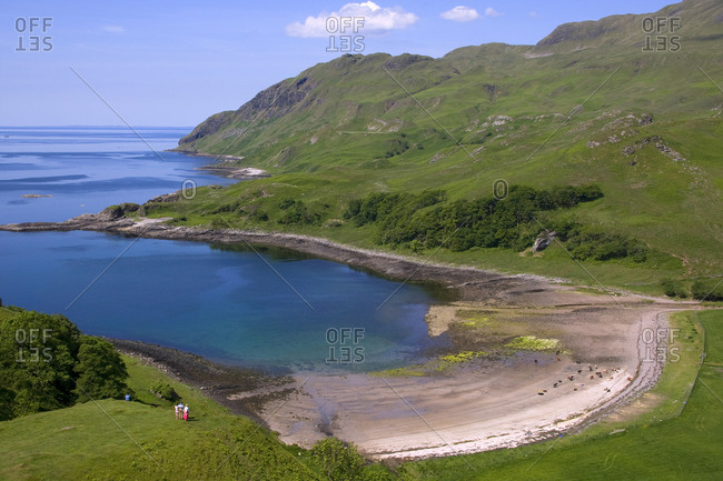 Ardslignish bay at Argyll, Scotland