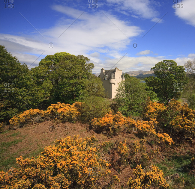 Barcaldine castle at spring in Argyll, Scotland