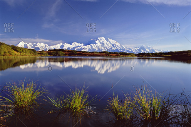 Mount McKinley in reflected in pond