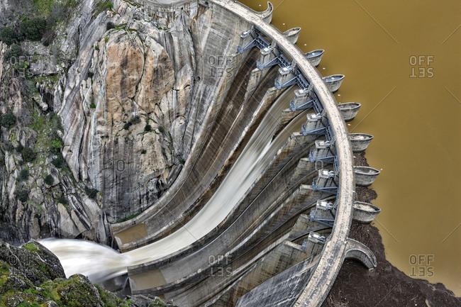 Salamanca. Arribes del Duero. Dam of Aldeadavila
