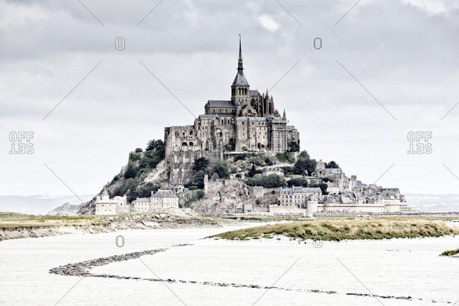 Mont Saint-Michel and the Couesnon River estuary