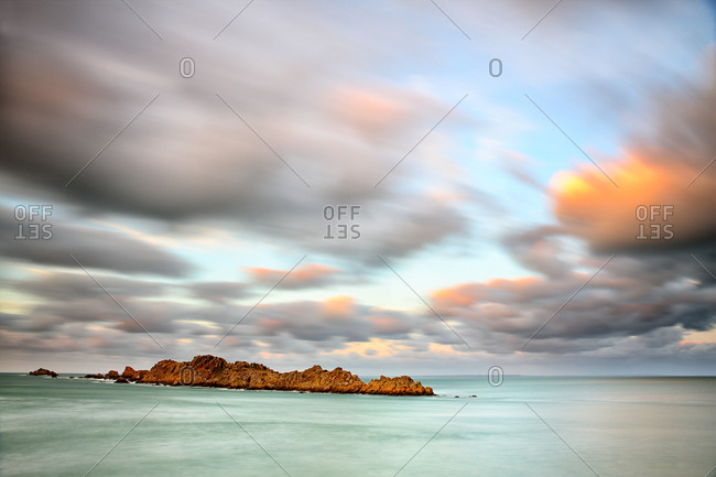 Panoramic view of Pointe du Decolle in Brittany, France
