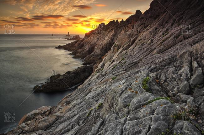 Pointe Du Raz Lighthouse, Finistere, Brittany, France