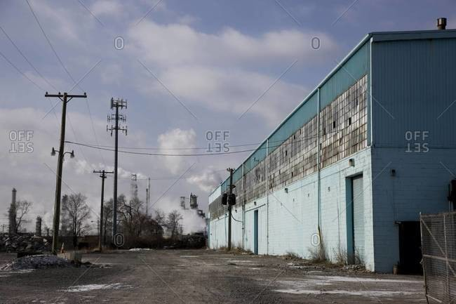 Abandoned industrial park