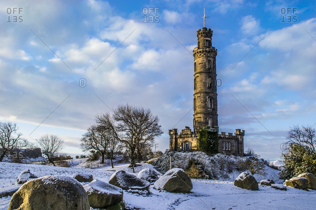 The Nelson Monument on Calton Hill, Edinburgh, Scotland