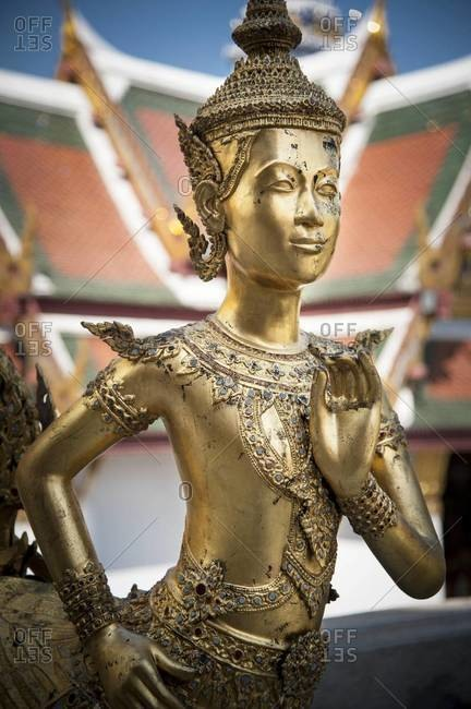 An adorned golden statue