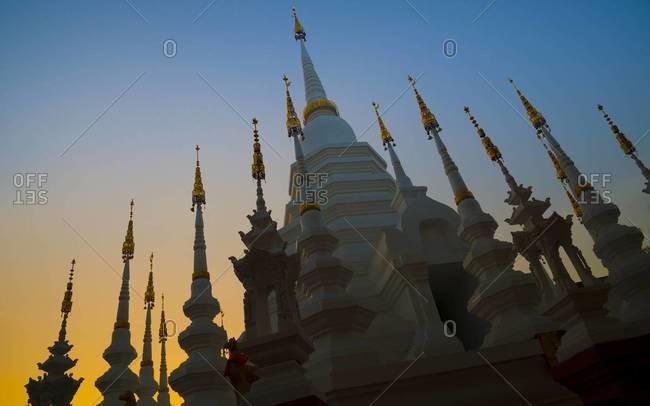 Ancient pagoda spires