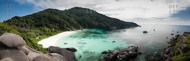 A panoramic overview of the beach one  of the Similan Islands