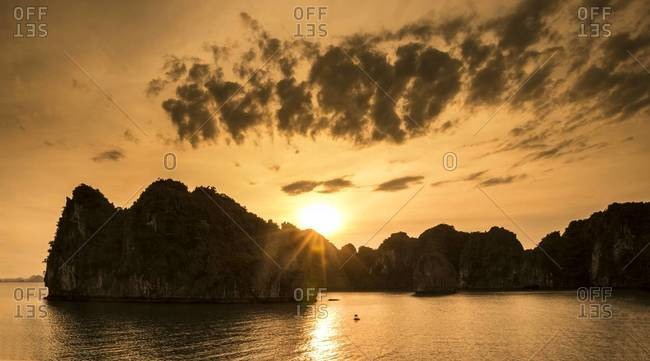 Sunset at Ha Long Bay, Vietnam