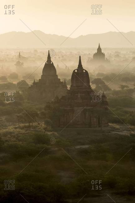 Sunrise at the ancient city of Bagan, Myanmar