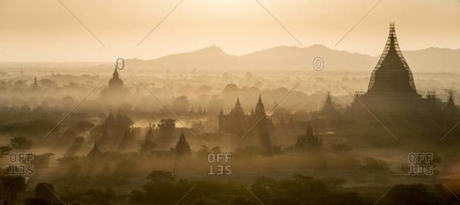Dawn at the ancient city of Bagan, Myanmar
