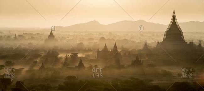 Dawn at the ancient city of Bagan, Myanmar