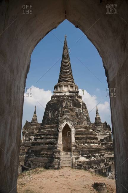 Wat Phra Si Sanphet, a temple complex within Ayutthaya, Thailand
