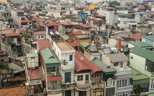 Rooftops in Hanoi, Vietnam