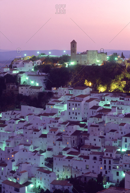 Evening in Casares, Spain - Offset