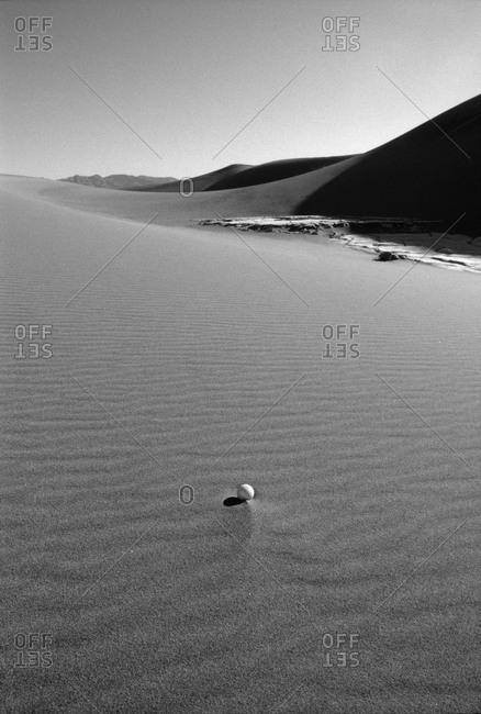 Golf ball in the desert