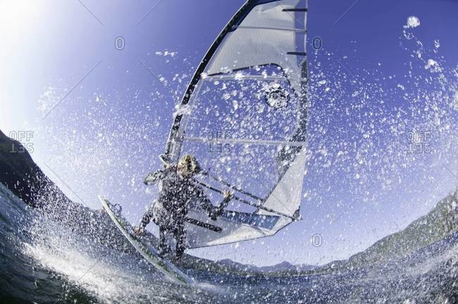 Man windsurfing
