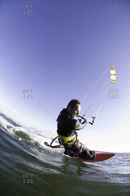 Man kite boarding - from the Offset Collection