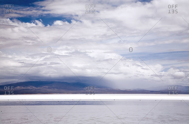 The Salinas Grandes salt flats in central-northern Argentina