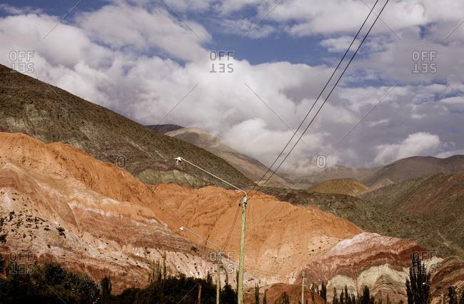 Landscape of mountain ranges