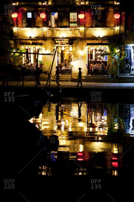 Illuminated street in Hoi An, Vietnam