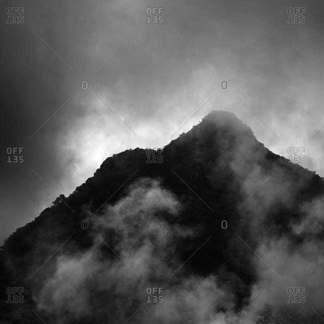 Smoke over peak in Owakudani, Hakone, Kanagawa Prefecture, Japan
