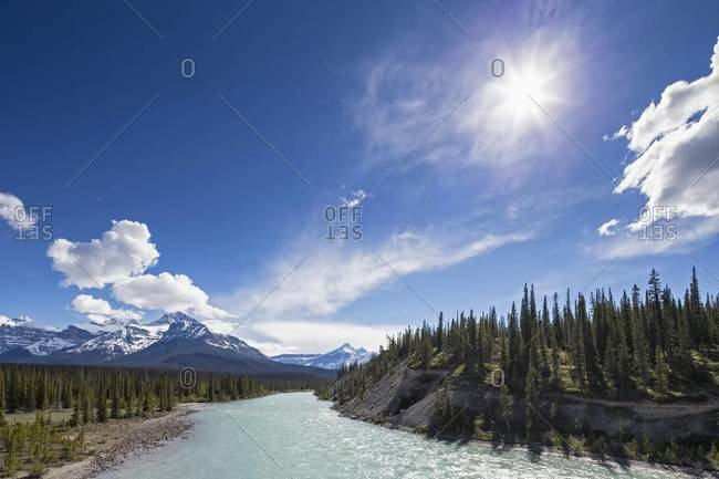 Canada, Alberta, Jasper National Park, Banff National Park, Icefields Parkway, Saskatchewan River