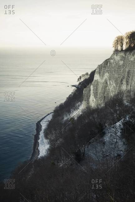 Germany, Mecklenburg-Western Pomerania, Ruegen, Jasmund National Park in winter