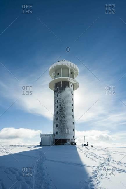 Germany, Baden-Wuerttemberg, Black Forest, Feldberg, Feldberg Tower in winter