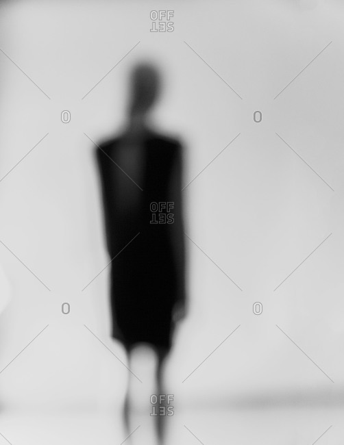 Silhouette of a woman in black