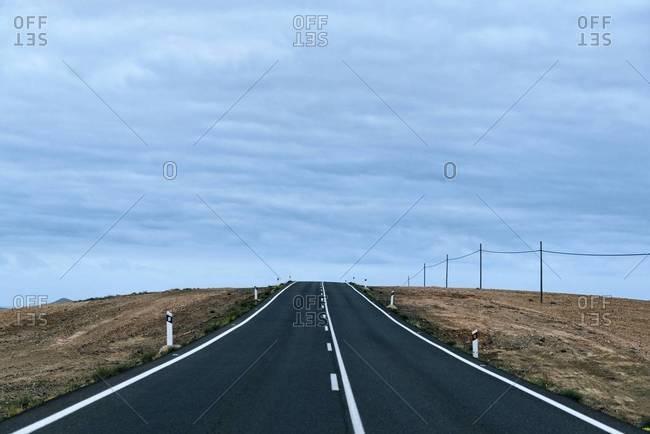 Empty road, Spain