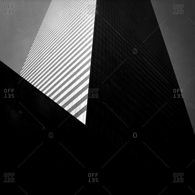 Low angle view of Citigroup Center Building in Midtown Manhattan