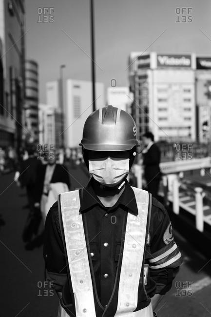Worker In Shinjuku, Tokyo, Japan