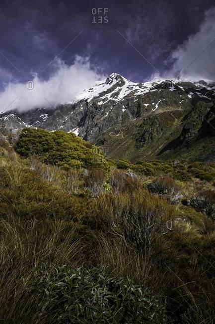 Mountains near the township of Otira, New Zealand