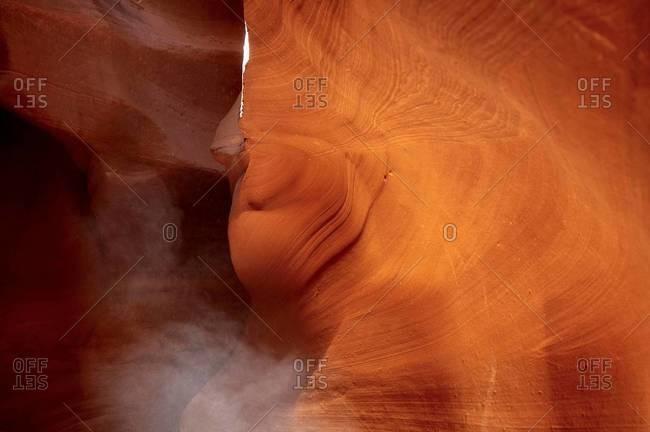 View inside Antelope Canyon, Arizona, USA
