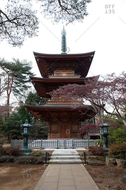 View of Goutokuji temple, Tokyo, Japan