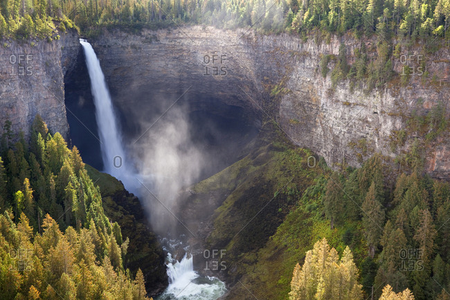 Scenic of Helmcken Falls