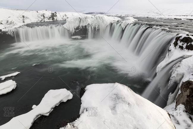 Landscape of waterfalls
