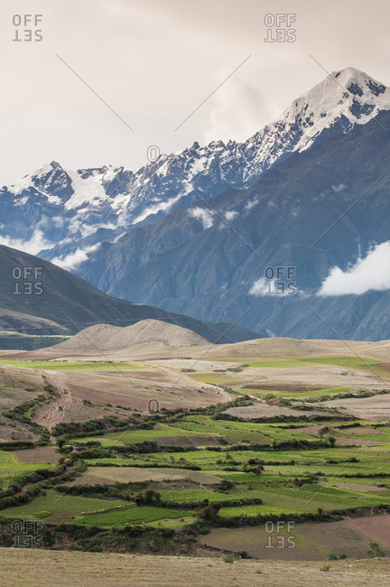 Landscape above the Sacred Valley near Maras, Peru
