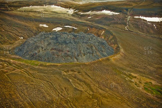 The remnants of Novarupta in Katmai National Park, Alaska