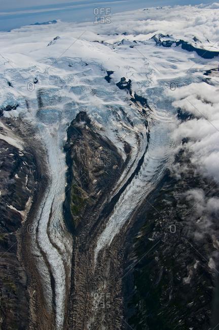 Glaciers in Katmai National Park, Alaska