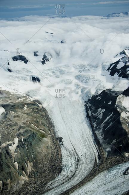 Glaciers deep within Katmai National Park, Alaska