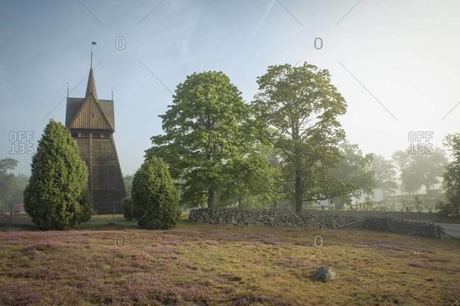 View of a wooden Church, Ronneby, Blekinge, Sweden