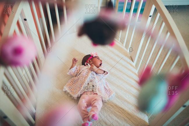 Infant yawning during nap
