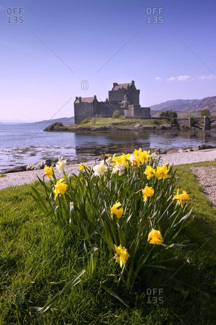 Eilean Donan Castle at spring, Scotland