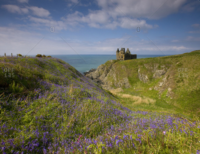 Ruins of the Dunskey Castle at Portpatrick, South-West Scotland