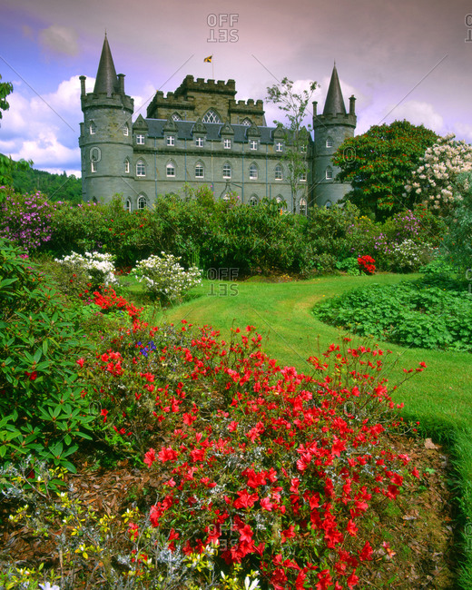 Inveraray Castle, home of the Duke and Duchess of Argyll, Scotland