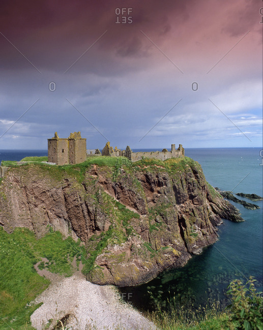 The ruins of Dunnottar castle in Aberdeenshire, Scotland